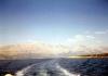 Pohoří tyčící se nad Makarskou riviérou s výběžkem ostrova Brač