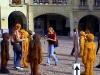 Sošky na náměstí před Münsterem