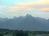 Panorama - Hory a západ slunce